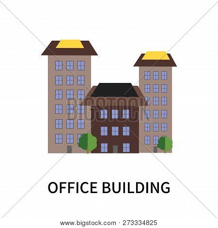 Office Building Icon Isolated On White Background. Office Building Icon Simple Sign. Office Building