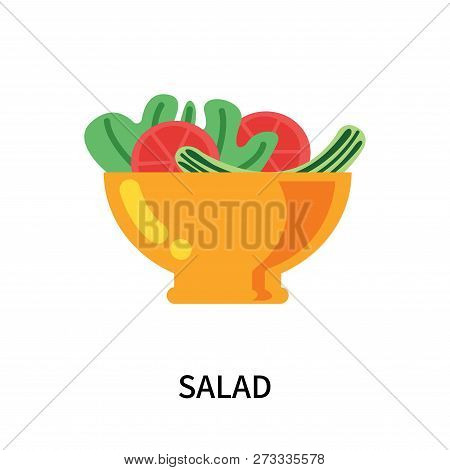 Salad Icon Isolated On White Background. Salad Icon Simple Sign. Salad Icon Trendy And Modern Symbol