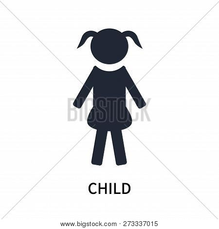 Child Icon Isolated On White Background. Child Icon Simple Sign. Child Icon Trendy And Modern Symbol