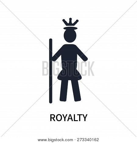 Royalty Icon Isolated On White Background. Royalty Icon Simple Sign. Royalty Icon Trendy And Modern