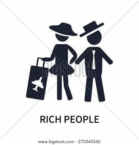 Rich People Icon Isolated On White Background. Rich People Icon Simple Sign. Rich People Icon Trendy