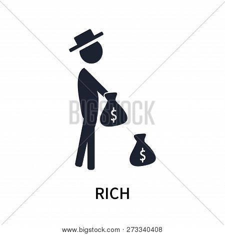 Rich Icon Isolated On White Background. Rich Icon Simple Sign. Rich Icon Trendy And Modern Symbol Fo
