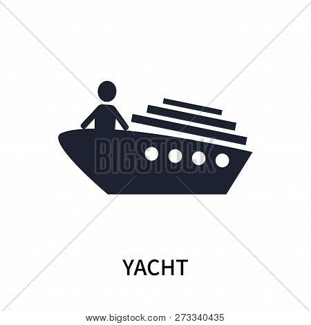 Yacht Icon Isolated On White Background. Yacht Icon Simple Sign. Yacht Icon Trendy And Modern Symbol