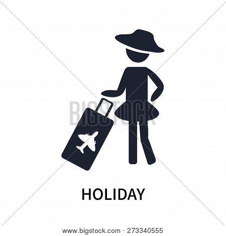 Holiday Icon Isolated On White Background. Holiday Icon Simple Sign. Holiday Icon Trendy And Modern