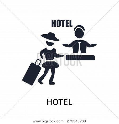 Hotel Icon Isolated On White Background. Hotel Icon Simple Sign. Hotel Icon Trendy And Modern Symbol