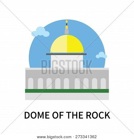 Dome Of The Rock Icon Isolated On White Background. Dome Of The Rock Icon Simple Sign. Dome Of The R
