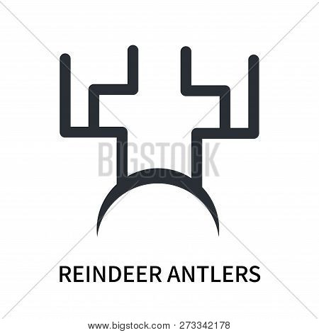 Reindeer Antlers Icon Isolated On White Background. Reindeer Antlers Icon Simple Sign. Reindeer Antl