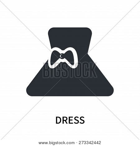 Dress Icon Isolated On White Background. Dress Icon Simple Sign. Dress Icon Trendy And Modern Symbol