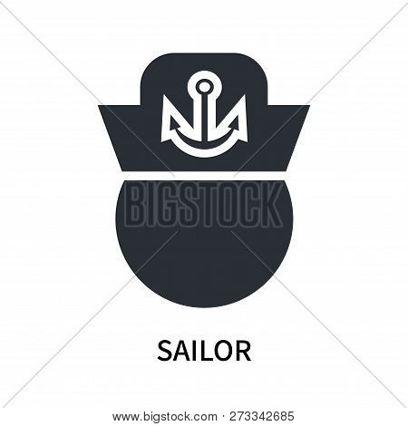 Sailor Icon Isolated On White Background. Sailor Icon Simple Sign. Sailor Icon Trendy And Modern Sym