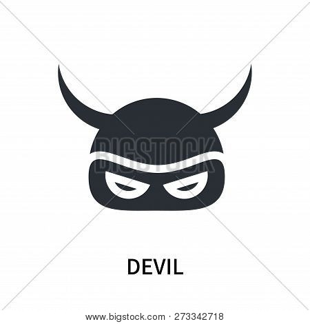 Devil Icon Isolated On White Background. Devil Icon Simple Sign. Devil Icon Trendy And Modern Symbol