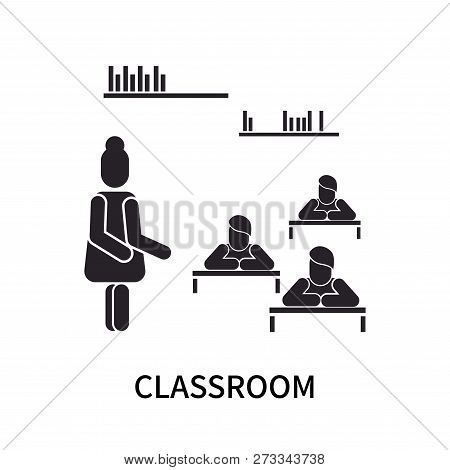 Classroom Icon Isolated On White Background. Classroom Icon Simple Sign. Classroom Icon Trendy And M