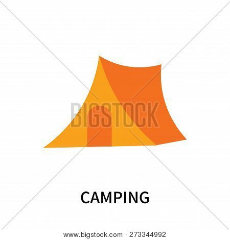 Camping Icon Isolated On White Background. Camping Icon Simple Sign. Camping Icon Trendy And Modern