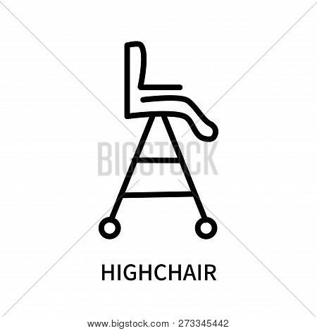 Highchair Icon Isolated On White Background. Highchair Icon Simple Sign. Highchair Icon Trendy And M