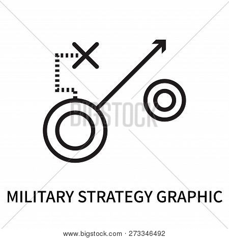 Military Strategy Graphic Icon Isolated On White Background. Military Strategy Graphic Icon Simple S