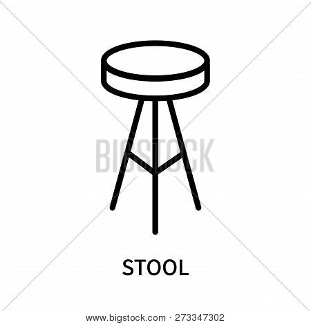Stool Icon Isolated On White Background. Stool Icon Simple Sign. Stool Icon Trendy And Modern Symbol