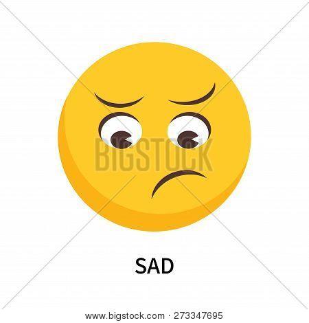 Sad Icon Isolated On White Background. Sad Icon Simple Sign. Sad Icon Trendy And Modern Symbol For G