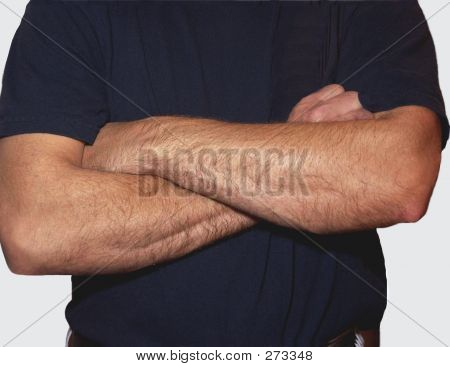 Mans With Arms Folded