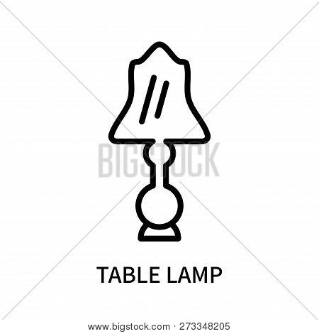 Table Lamp Icon Isolated On White Background. Table Lamp Icon Simple Sign. Table Lamp Icon Trendy An