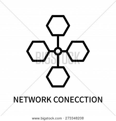Network Conecction Icon Isolated On White Background. Network Conecction Icon Simple Sign. Network C