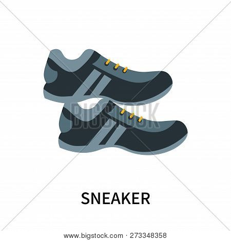 Sneaker Icon Isolated On White Background. Sneaker Icon Simple Sign. Sneaker Icon Trendy And Modern