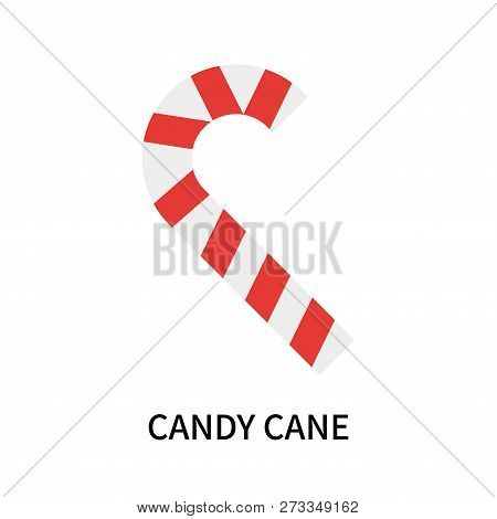 Candy Cane Icon Isolated On White Background. Candy Cane Icon Simple Sign. Candy Cane Icon Trendy An