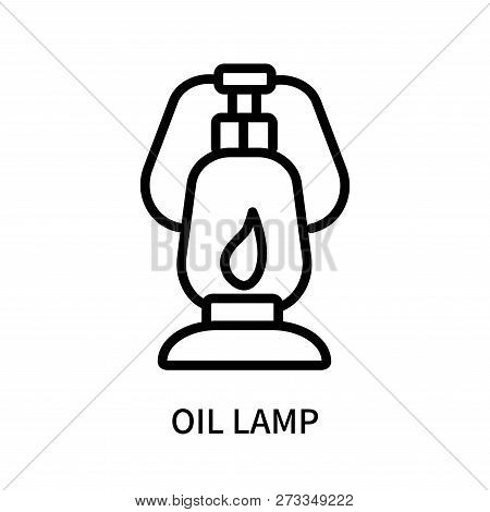 Oil Lamp Icon Isolated On White Background. Oil Lamp Icon Simple Sign. Oil Lamp Icon Trendy And Mode