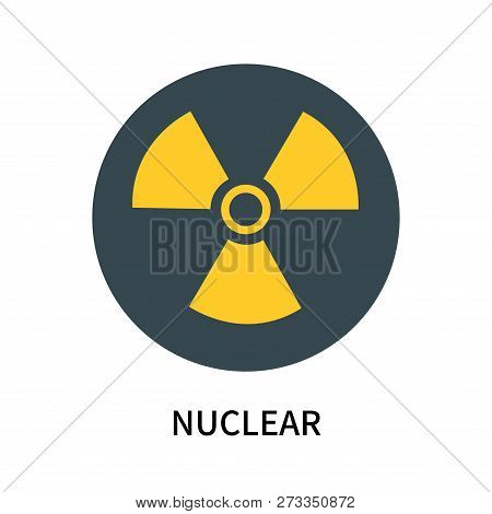Nuclear Icon Isolated On White Background. Nuclear Icon Simple Sign. Nuclear Icon Trendy And Modern