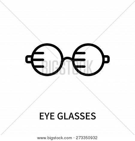 Eye Glasses Icon Isolated On White Background. Eye Glasses Icon Simple Sign. Eye Glasses Icon Trendy