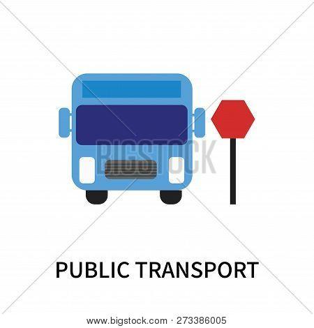 Public Transport Icon Isolated On White Background. Public Transport Icon Simple Sign. Public Transp
