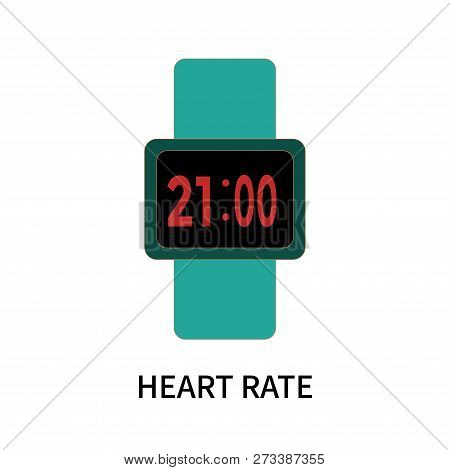 Heart Rate Icon Isolated On White Background. Heart Rate Icon Simple Sign. Heart Rate Icon Trendy An