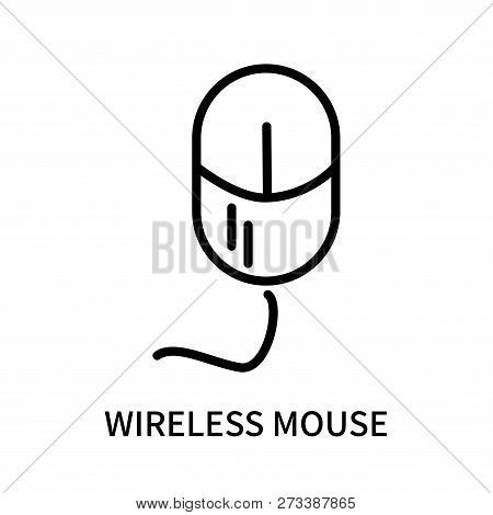Wireless Mouse Icon Isolated On White Background. Wireless Mouse Icon Simple Sign. Wireless Mouse Ic
