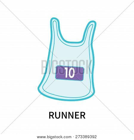Runner Icon Isolated On White Background. Runner Icon Simple Sign. Runner Icon Trendy And Modern Sym