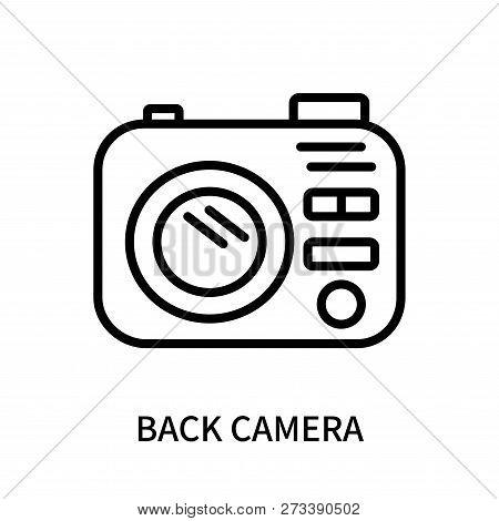Back Camera Icon Isolated On White Background. Back Camera Icon Simple Sign. Back Camera Icon Trendy