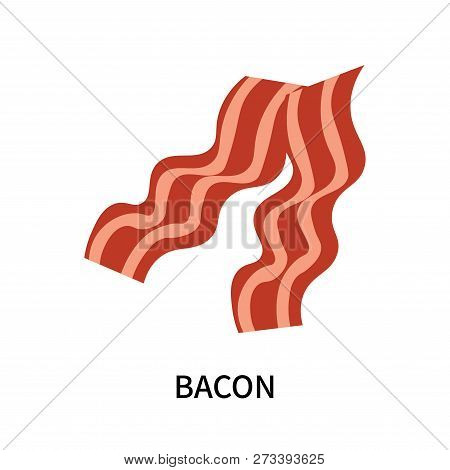Bacon Icon Isolated On White Background. Bacon Icon Simple Sign. Bacon Icon Trendy And Modern Symbol