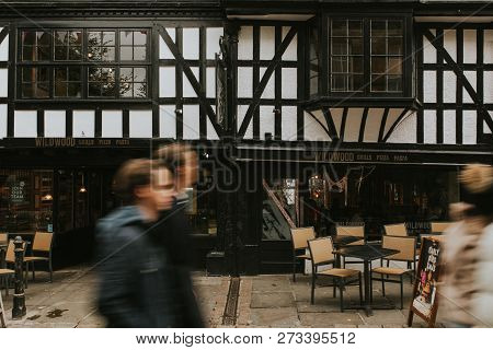 Canterbury, England - October 28th, 2018: A Classic English Tavern In A Main Street Of Canterbury Vi