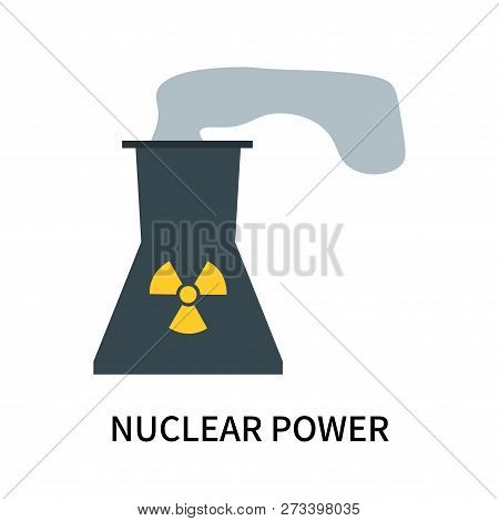 Nuclear Power Icon Isolated On White Background. Nuclear Power Icon Simple Sign. Nuclear Power Icon