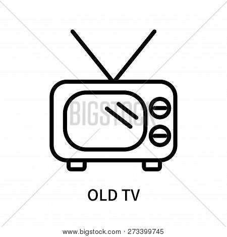 Old Tv Icon Isolated On White Background. Old Tv Icon Simple Sign. Old Tv Icon Trendy And Modern Sym