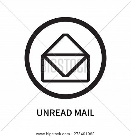 Unread Mail Icon Isolated On White Background. Unread Mail Icon Simple Sign. Unread Mail Icon Trendy
