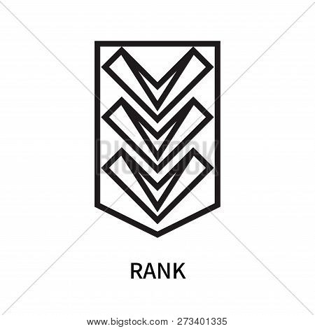 Rank Icon Isolated On White Background. Rank Icon Simple Sign. Rank Icon Trendy And Modern Symbol Fo