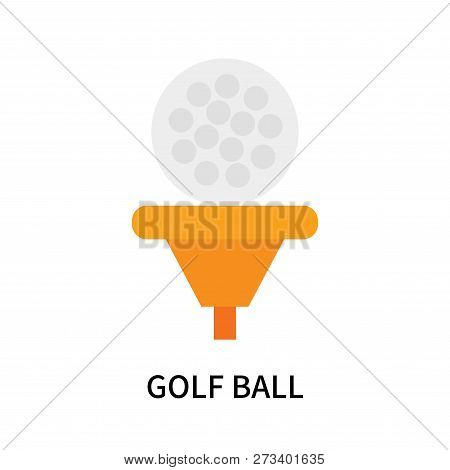Golf Ball Icon Isolated On White Background. Golf Ball Icon Simple Sign. Golf Ball Icon Trendy And M