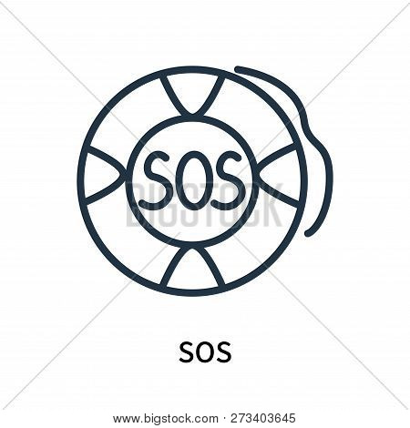 Sos Icon Isolated On White Background. Sos Icon Simple Sign. Sos Icon Trendy And Modern Symbol For G