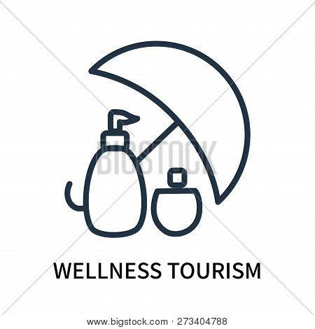 Wellness Tourism Icon Isolated On White Background. Wellness Tourism Icon Simple Sign. Wellness Tour