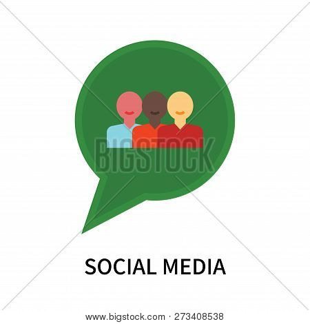 Social Media Icon Isolated On White Background. Social Media Icon Simple Sign. Social Media Icon Tre