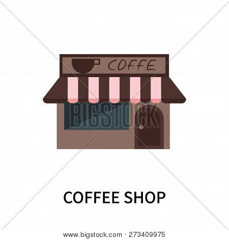 Coffee Shop Icon Isolated On White Background. Coffee Shop Icon Simple Sign. Coffee Shop Icon Trendy