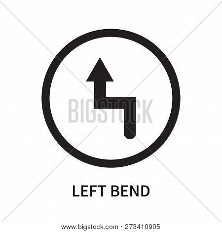 Left Bend Icon Isolated On White Background. Left Bend Icon Simple Sign. Left Bend Icon Trendy And M