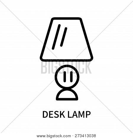 Desk Lamp Icon Isolated On White Background. Desk Lamp Icon Simple Sign. Desk Lamp Icon Trendy And M