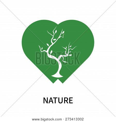 Nature Icon Isolated On White Background. Nature Icon Simple Sign. Nature Icon Trendy And Modern Sym