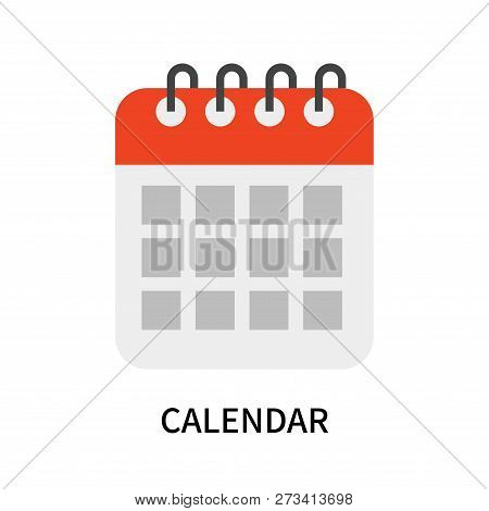 Calendar Icon Isolated On White Background. Calendar Icon Simple Sign. Calendar Icon Trendy And Mode