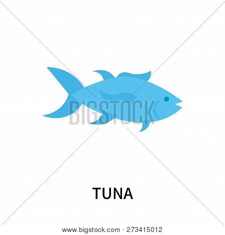 Tuna Icon Isolated On White Background. Tuna Icon Simple Sign. Tuna Icon Trendy And Modern Symbol Fo