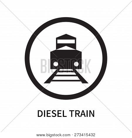 Diesel Train Icon Isolated On White Background. Diesel Train Icon Simple Sign. Diesel Train Icon Tre